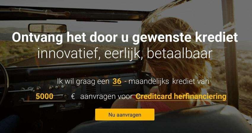 schermafbeelding aanvragen krediet bij Crosslend