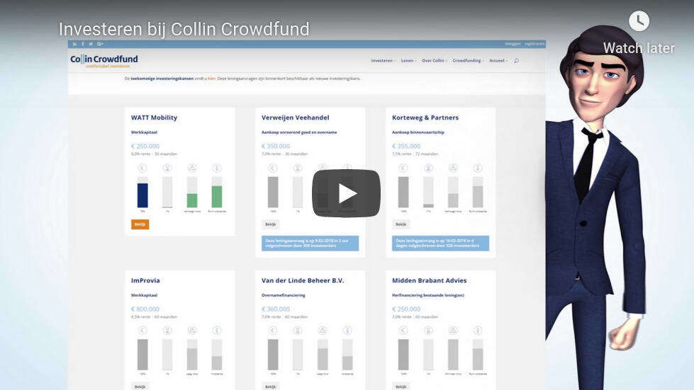 colin crowdfund investeren video op youtube